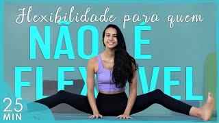 FLEXIBILIDADE para quem NÃO É FLEXÍVEL (Yoga para Flexibilidade: PRIMEIRA AULA) | Fernanda Yoga