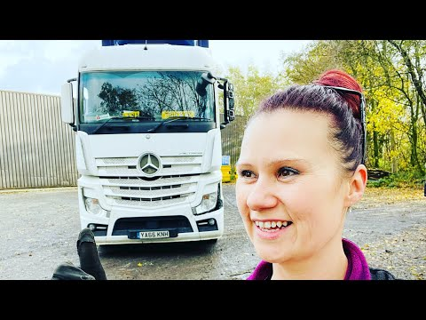 🔙to my old place for a filming shift🔙 a day in a life of female C+E trunk driver in UK 16/11/20
