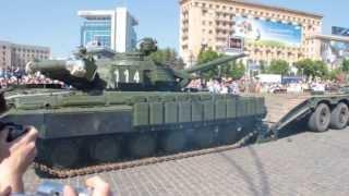 Погрузка танка