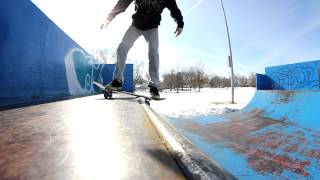 Mini Ramp Winter Skateboard Session (new Tricks) - Brad Jensen