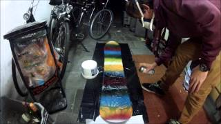 Soap painting your snowboard easy and fast!