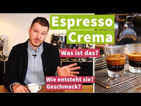Crema auf dem Espresso - Zusammensetzung, Tigerstreifen und Geschmack