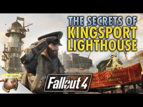 THE SECRETS OF KINGSPORT LIGHTHOUSE - Huge, realistic Fallout 4 custom settlement!