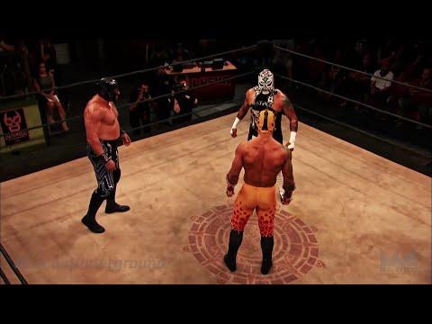 Lucha Underground 3/9/16: Prince Puma vs Pentagon Jr. vs Mil Muertes - 3-WAY TITLE MATCH