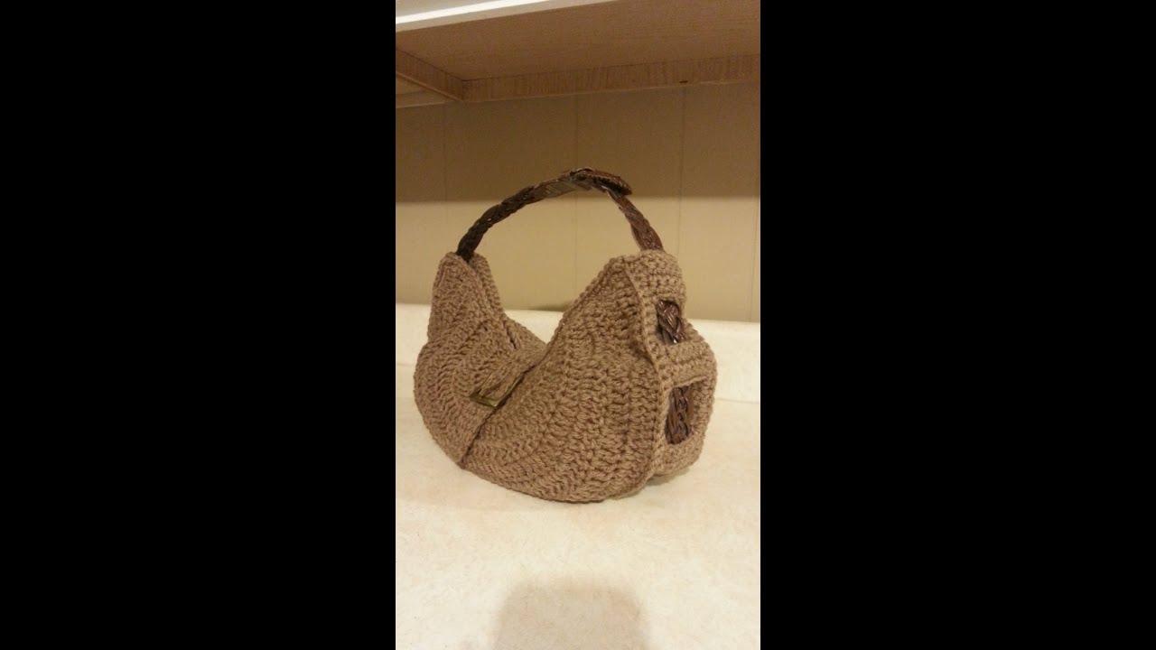 How To Crochet A Purse : CROCHET How to #Crochet Belt Bag Purse HANDBAG #TUTORIAL #99 LEARN ...