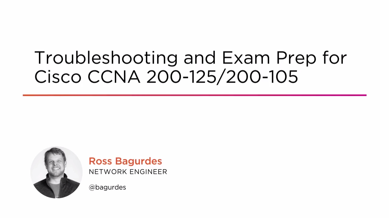 Troubleshooting and Exam Prep for Cisco CCNA 200-125/200-105