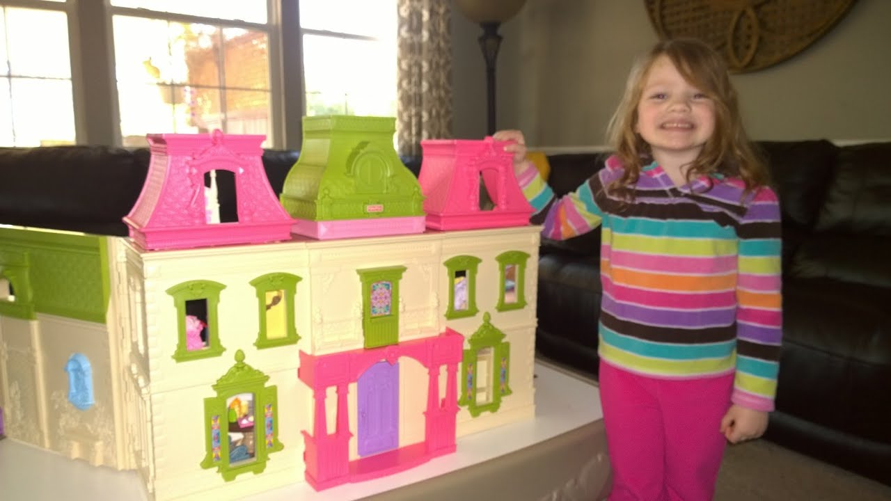 Triplets Play With Fisher Price Loving Family Dream Dollhouse Super