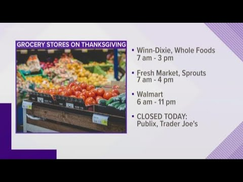What grocery stores are open on Thanksgiving?