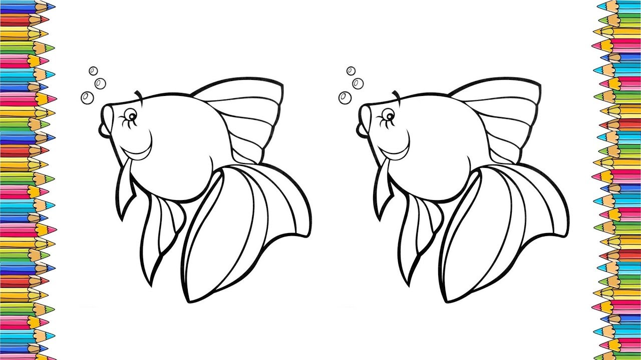 Coloring pop art Goldfish Coloring pages for kids Coloring