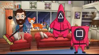 Приколы! ИГРА В КАЛЬМАРА! Смешные видео от Доми шоу! Мемы анимация