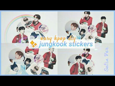 💫 easy jungkook stickers (satin ver.)   bts diy