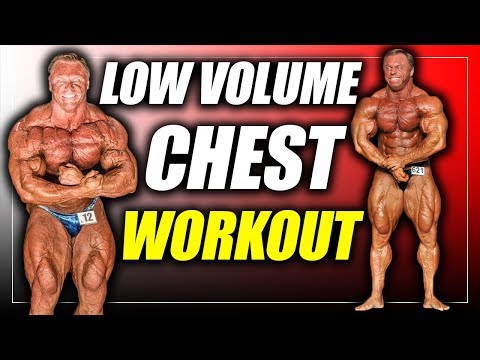 Low Volume Chest workout for MASS