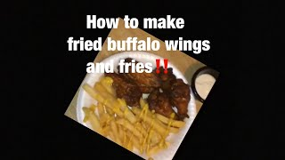 Cooking with Ashanta how to make buffalo fried chicken and fries