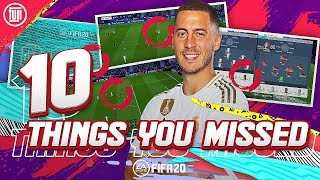 FIFA 20 | 10 THINGS YOU MISSED! FIFA 20 GAMEPLAY! FIFA 20 FEATURES!