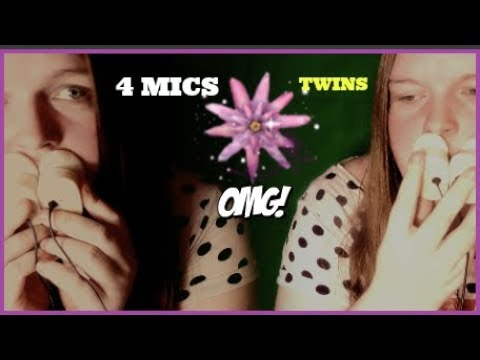 [ASMR] The Most INTENSE👀 Twin Fast Mouth Sound Ever 4 Mics Used [NO TALKING]