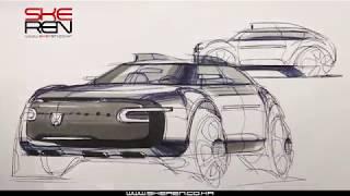 자동차 스케치(볼펜)