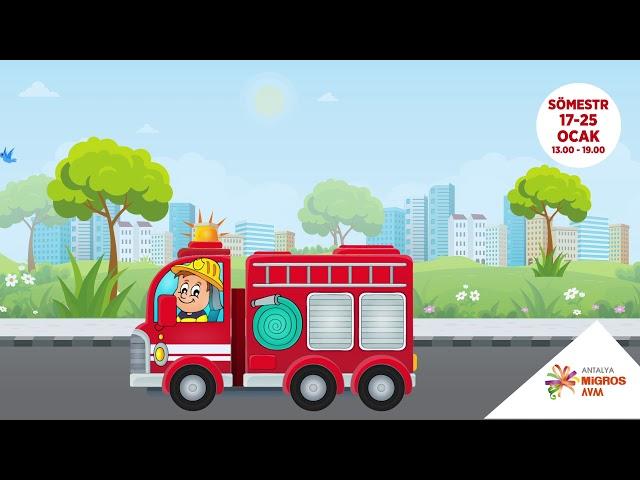 Markam Reklam - Antalya Migros AVM Kahraman İtfaiyeciler Animasyonu