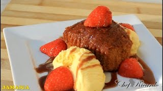 Jamaica Ginger Cake Desserst Served With ice cream