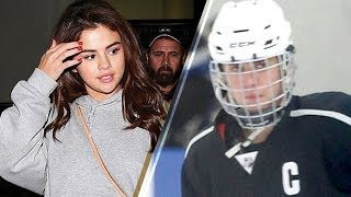 Jelena Going STRONG! Selena Gomez Cheers on Justin Bieber at Hockey Game After Bible Study