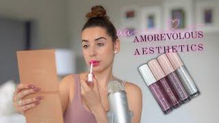 ASMR Lip Gloss Try On & Review | Amorevolous Aesthetics (DiamondASMR)