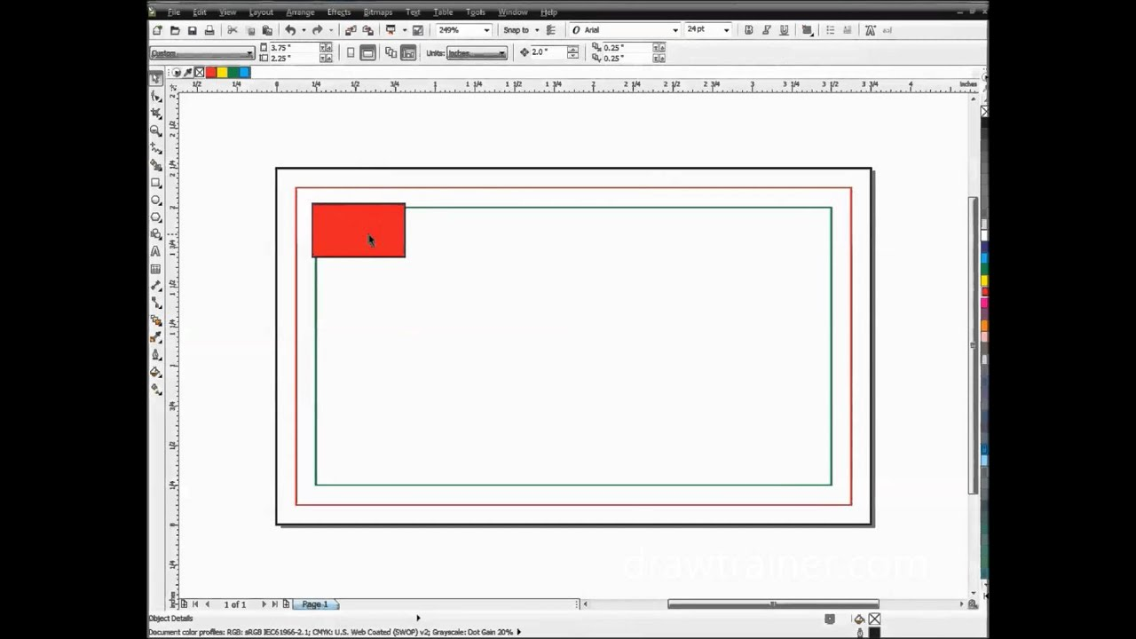 Creating A Full Bleed Business Card Template In CorelDRAW - YouTube