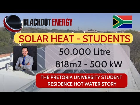 SOLAR SYSTEM - Henning Holm - Pretoria University Hot Water - BLACKDOT Energy