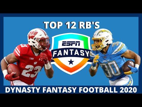 2020 Fantasy Football Dynasty: Top 12 Running Backs (RB Rankings)