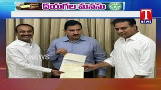 మంత్రి కేటీఆర్కు చెక్కులు అందజేసిన ఎంపీ సుజనా చౌదరి   Tnews Telugu