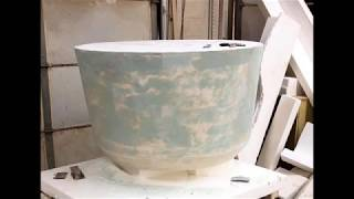 Making a GFRC Planter Mold - Glass Fiber Reinforced Concrete