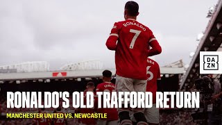 Cristiano Ronaldo Walks Out For His Second Manchester United Debut At Old Trafford