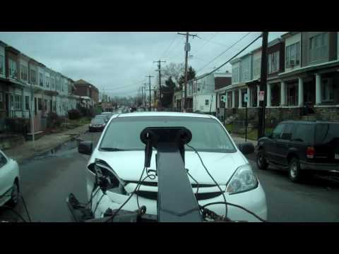 Marty towing a car in Olney Phila Pa