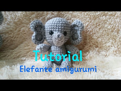 Elefante peluche, amigurumi de Two bee, patron gratis.Elephant ... | 360x480