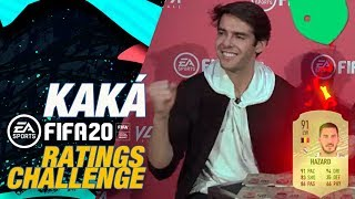 How good is Kaká at guessing Hazard, Ramos and Benzema's FIFA 20 ratings?