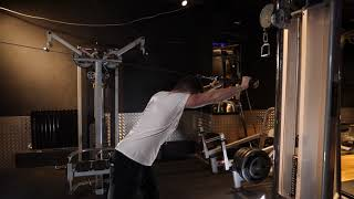 Tricep rope bent over overhead extension