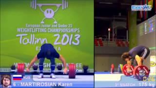 JUNIOR EUROPEAN CHAMPIONSHIPS 2013 - Martirosyan Karen(105+)