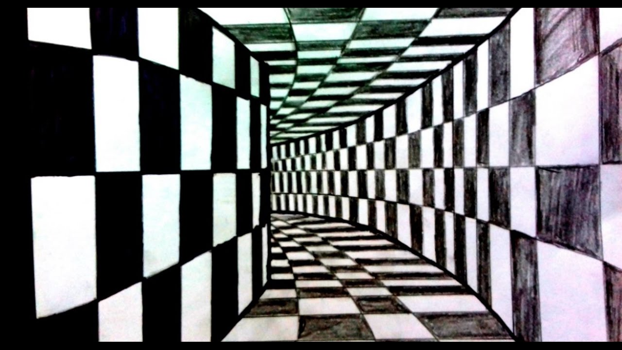 How to draw a 3d tunnel 3d arts youtube for 3d drawing website