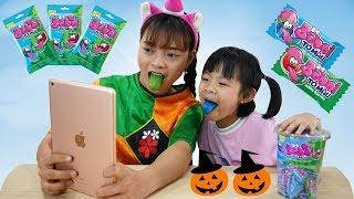 Trò Chơi Ăn Kẹo Bigbabol Tô Màu Hóa Trang Halloween ❤ AnAn ToysReview TV ❤