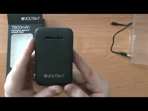 Volt 24:7 7800mAh portable power bank unboxing video (Magyar