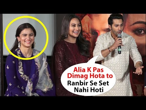 Varun Dhawan Insulting*  Alia Bhat Talk About Alia And Ranbir Relationship kalank trailer launch