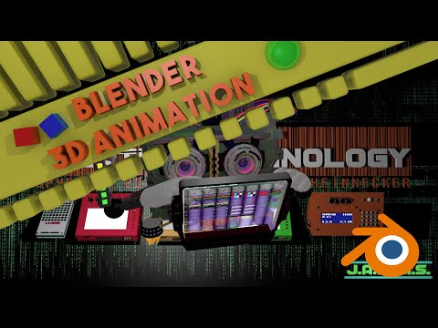 Blender Animation : Project Jarvis A.I. Full rendering Level 14