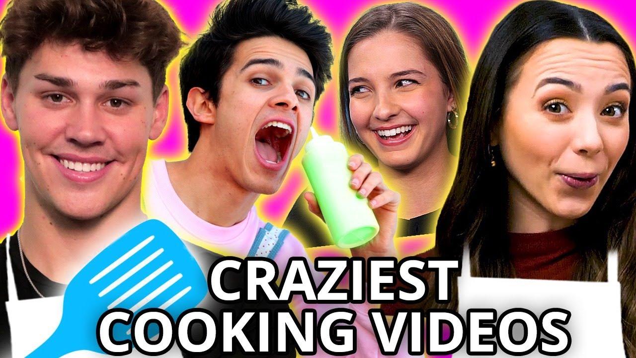 Funniest Food Show Moments w/ Noah Beck, Merrell Twins, Brent & Lexi Rivera, MORE | AwesomenessTV