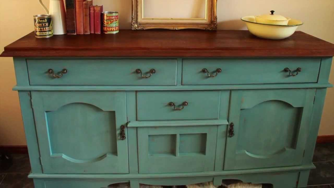 How I Made Over a Sideboard using Miss Mustard Seeds Milk