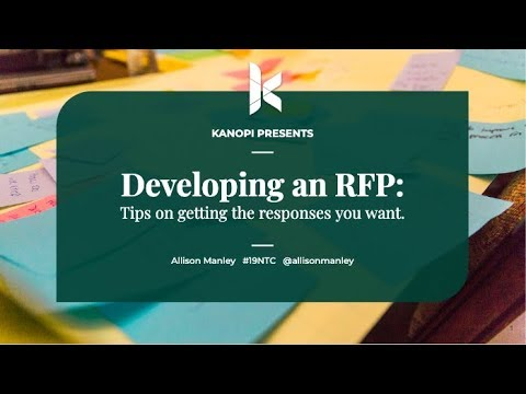 How to write a website RFP – NTC 2019