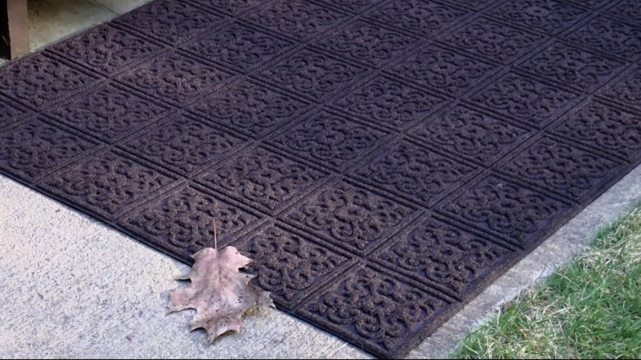 Aqua Hog 2u0027 X 3u0027 Indoor/Outdoor Door Mat With Rubber Backing On QVC