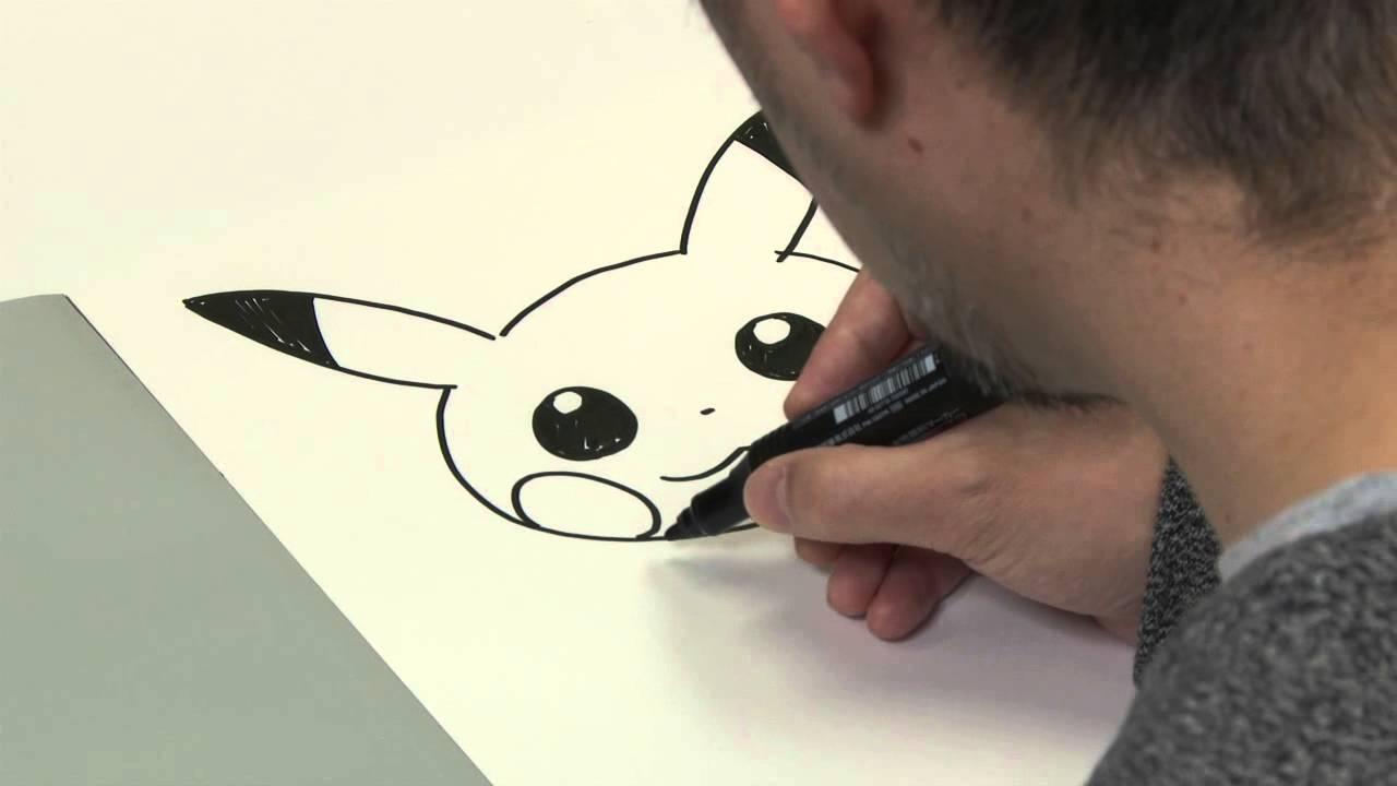So Malst Du Pikachu Ken Sugimori Künstlerischer Leiter Des Pokémon