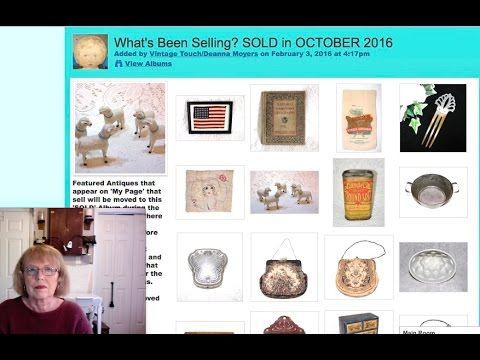 Antique Sales in my Antique Booth & Online Oct 2016