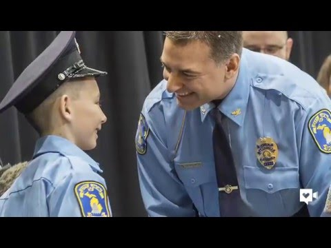 11-year-old skips own birthday party to honor police
