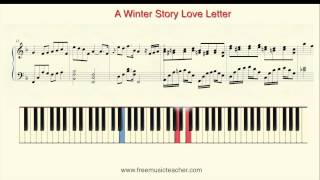 """How To Play Piano: Yiruma """"A Winter Story Love Letter"""" Piano Tutorial by Ramin Yousefi"""