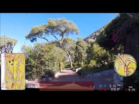 Gibraltar Botanic Gardens Urban Sprint Orienteering Course C