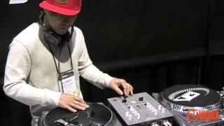 NAMM 2014: DJ Qbert with the Gold Ortofon carts